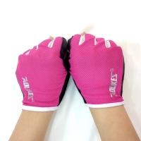 Găng tay tập gym nữ lưới màu hồng