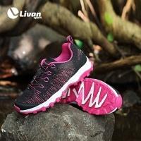 Giày thể thao Outdoor màu đen hồng