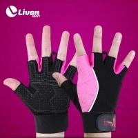 Gang tay tập gym MRCUE màu đen hồng